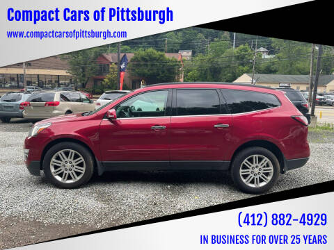 2014 Chevrolet Traverse for sale at Compact Cars of Pittsburgh in Pittsburgh PA