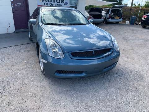 2006 Infiniti G35 for sale at Excellent Autos of Orlando in Orlando FL