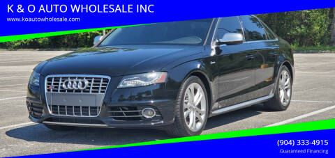2011 Audi S4 for sale at K & O AUTO WHOLESALE INC in Jacksonville FL