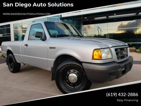 2002 Ford Ranger for sale at San Diego Auto Solutions in Escondido CA