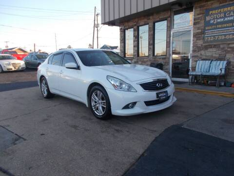 2012 Infiniti G37 Sedan for sale at Preferred Motor Cars of New Jersey in Keyport NJ