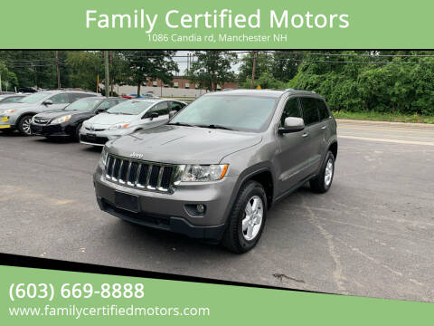 2012 Jeep Grand Cherokee for sale at Family Certified Motors in Manchester NH