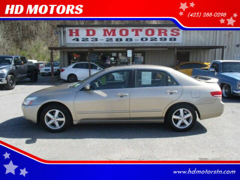 2003 Honda Accord for sale at HD MOTORS in Kingsport TN