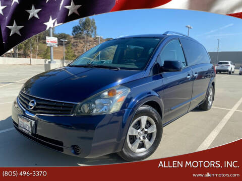 2008 Nissan Quest for sale at Allen Motors, Inc. in Thousand Oaks CA