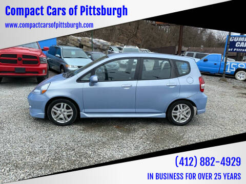 2008 Honda Fit for sale at Compact Cars of Pittsburgh in Pittsburgh PA