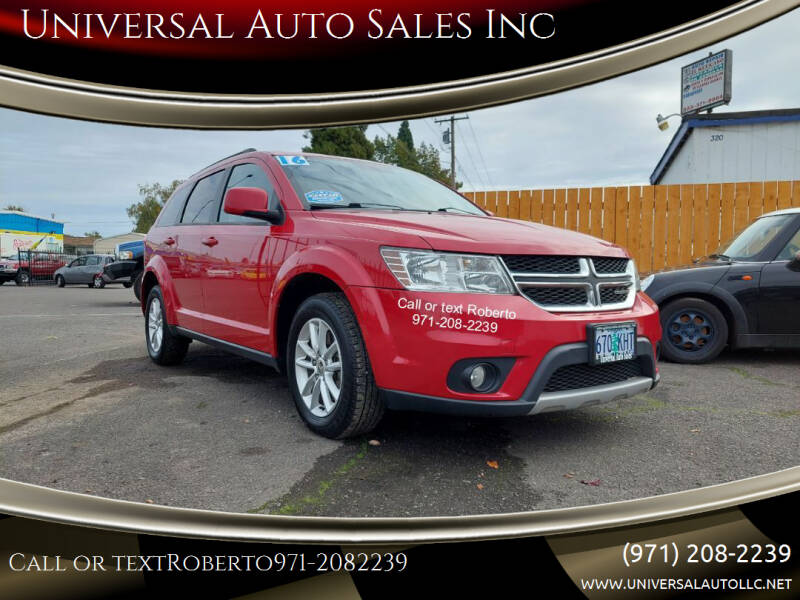 2016 Dodge Journey for sale at Universal Auto Sales Inc in Salem OR