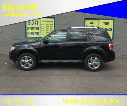 2012 Ford Escape for sale at BIG #1 INC in Brownstown MI