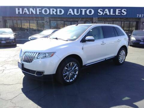 2012 Lincoln MKX for sale at Hanford Auto Sales in Hanford CA
