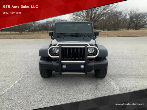 2012 Jeep Wrangler for sale at GTR Auto Sales LLC in Haltom City TX
