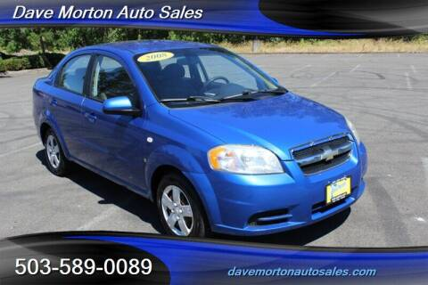 2008 Chevrolet Aveo for sale at Dave Morton Auto Sales in Salem OR