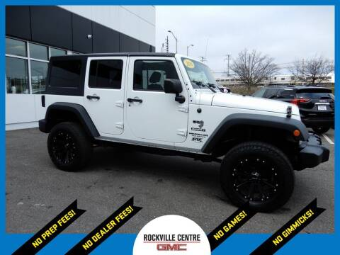 2016 Jeep Wrangler Unlimited for sale at Rockville Centre GMC in Rockville Centre NY