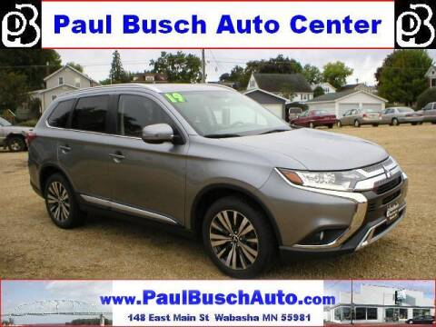 2019 Mitsubishi Outlander for sale at Paul Busch Auto Center Inc in Wabasha MN