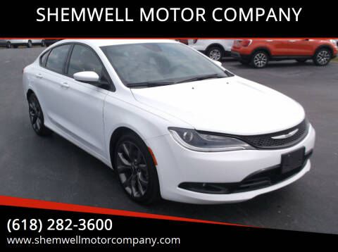 2015 Chrysler 200 for sale at SHEMWELL MOTOR COMPANY in Red Bud IL
