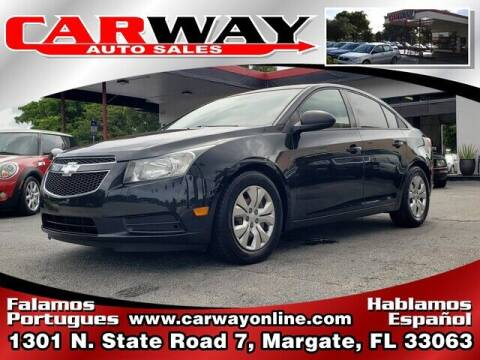 2013 Chevrolet Cruze for sale at CARWAY Auto Sales in Margate FL