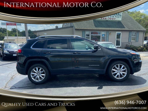 2015 Jeep Cherokee for sale at International Motor Co. in Saint Charles MO