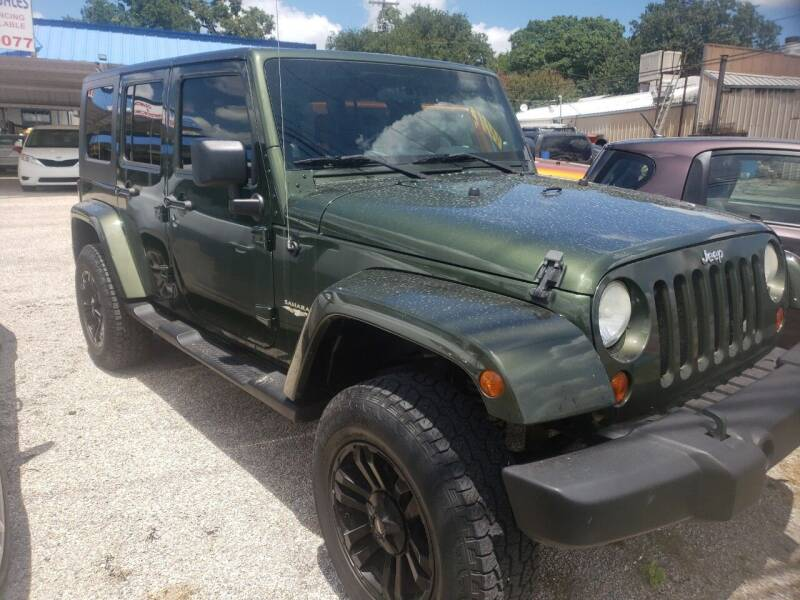 2008 Jeep Wrangler Unlimited for sale at HAYNES AUTO SALES in Weatherford TX