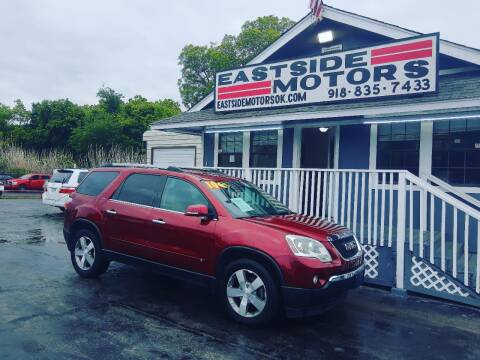2010 GMC Acadia for sale at EASTSIDE MOTORS in Tulsa OK