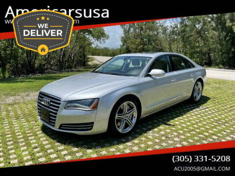 2011 Audi A8 L for sale at Americarsusa in Hollywood FL