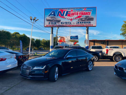 2013 Audi S7 for sale at ANF AUTO FINANCE in Houston TX