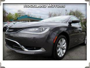 2015 Chrysler 200 for sale at Rockland Automall - Rockland Motors in West Nyack NY