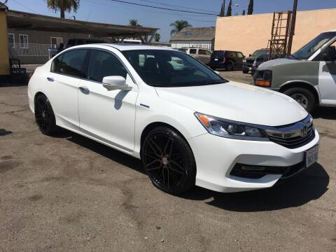 2017 Honda Accord Hybrid for sale at JR'S AUTO SALES in Pacoima CA