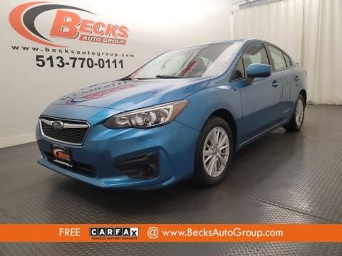 2018 Subaru Impreza for sale at Becks Auto Group in Mason OH