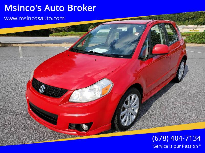2012 Suzuki SX4 Sportback for sale at Msinco's Auto Broker in Snellville GA