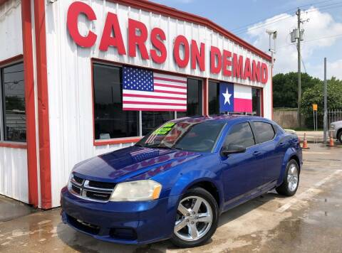 2013 Dodge Avenger for sale at Cars On Demand in Pasadena TX