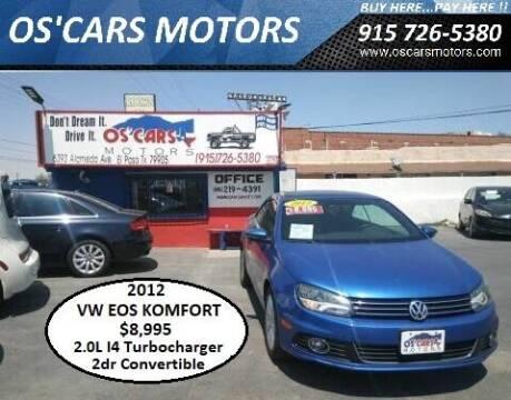 2012 Volkswagen Eos for sale at Os'Cars Motors in El Paso TX