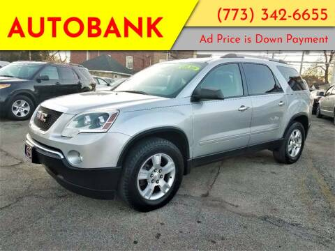 2012 GMC Acadia for sale at AutoBank in Chicago IL