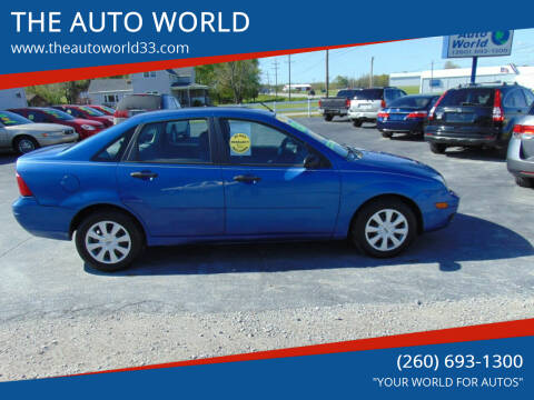 2005 Ford Focus for sale at THE AUTO WORLD in Churubusco IN