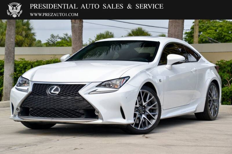 2015 Lexus RC 350 for sale at Presidential Auto  Sales & Service in Delray Beach FL