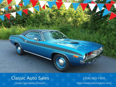 1972 Plymouth Barracuda for sale at Classic Auto Sales in Maiden NC