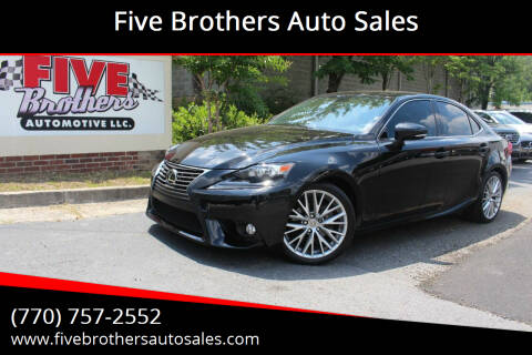 2015 Lexus IS 250 for sale at Five Brothers Auto Sales in Roswell GA