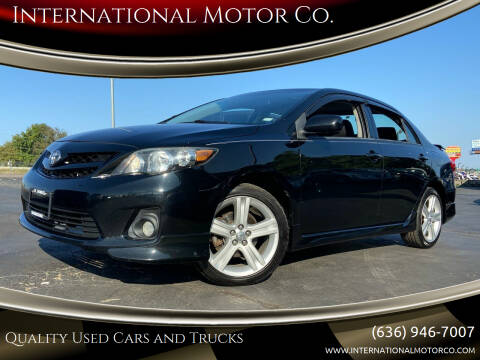 2013 Toyota Corolla for sale at International Motor Co. in St. Charles MO