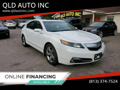 2012 Acura TL for sale at QLD AUTO INC in Tampa FL