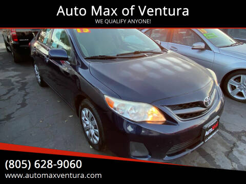 2013 Toyota Corolla for sale at Auto Max of Ventura in Ventura CA