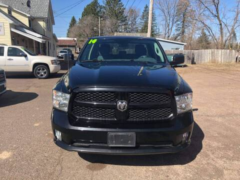 2014 RAM Ram Pickup 1500 for sale at WB Auto Sales LLC in Barnum MN