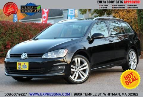 2015 Volkswagen Golf SportWagen for sale at Auto Sales Express in Whitman MA