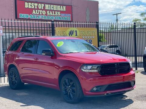 2018 Dodge Durango for sale at Best of Michigan Auto Sales in Detroit MI