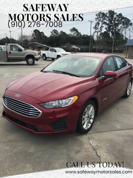2019 Ford Fusion Hybrid for sale at Safeway Motors Sales in Laurinburg NC