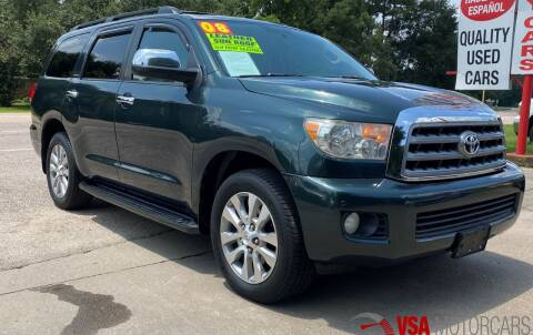 2008 Toyota Sequoia for sale at VSA MotorCars in Cypress TX