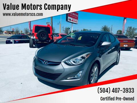 2014 Hyundai Elantra for sale at Value Motors Company in Marrero LA