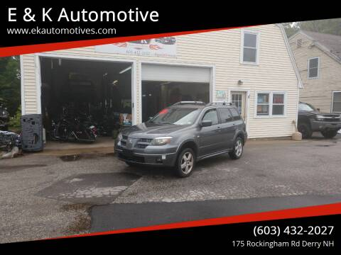 2005 Mitsubishi Outlander for sale at E & K Automotive in Derry NH