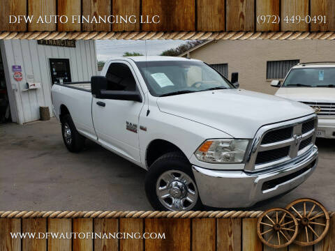 2016 RAM Ram Pickup 2500 for sale at DFW AUTO FINANCING LLC in Dallas TX
