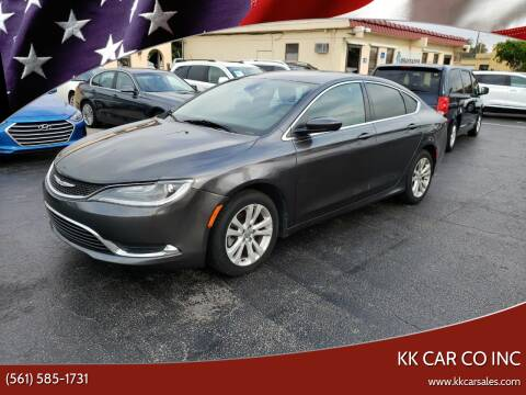 2015 Chrysler 200 for sale at KK Car Co Inc in Lake Worth FL