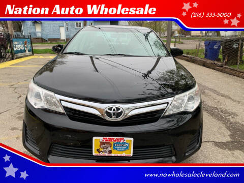 2014 Toyota Camry for sale at Nation Auto Wholesale in Cleveland OH