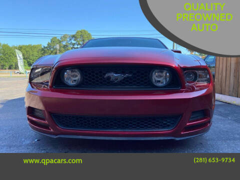 2014 Ford Mustang for sale at QUALITY PREOWNED AUTO in Houston TX