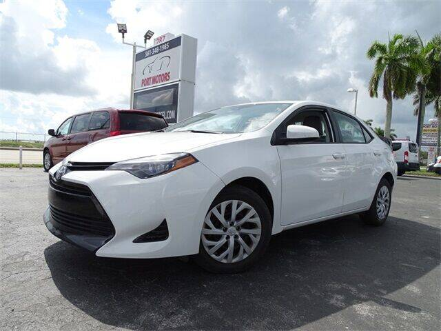 2018 Toyota Corolla for sale at Automotive Credit Union Services in West Palm Beach FL