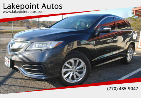 2016 Acura RDX for sale at Lakepoint Autos in Cartersville GA
